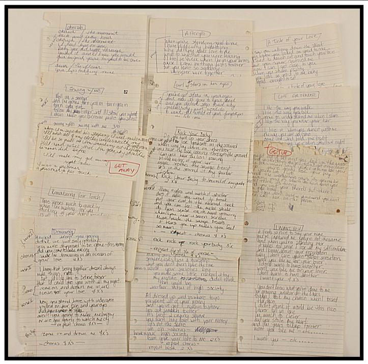 madonna gotham handwritten lyrics
