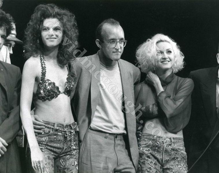 Madonna, Keith Haring, Sandra Bernhardt, 1989 Brooklyn, NY