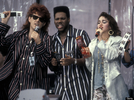 Live Aid Concert to Raise Funds for the Ethiopian Famine Crisis