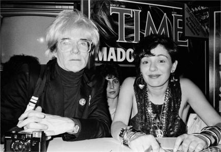 Warhol y Maripol como jurado