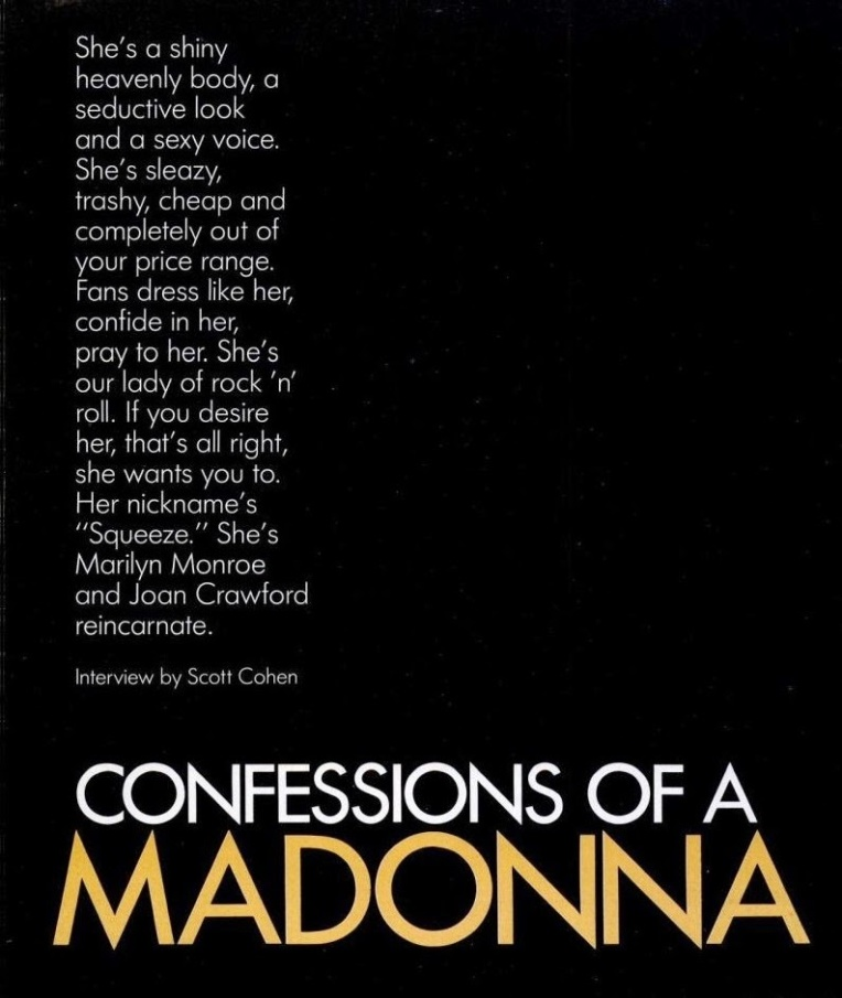 madonna spin magazine in terview 1985 2
