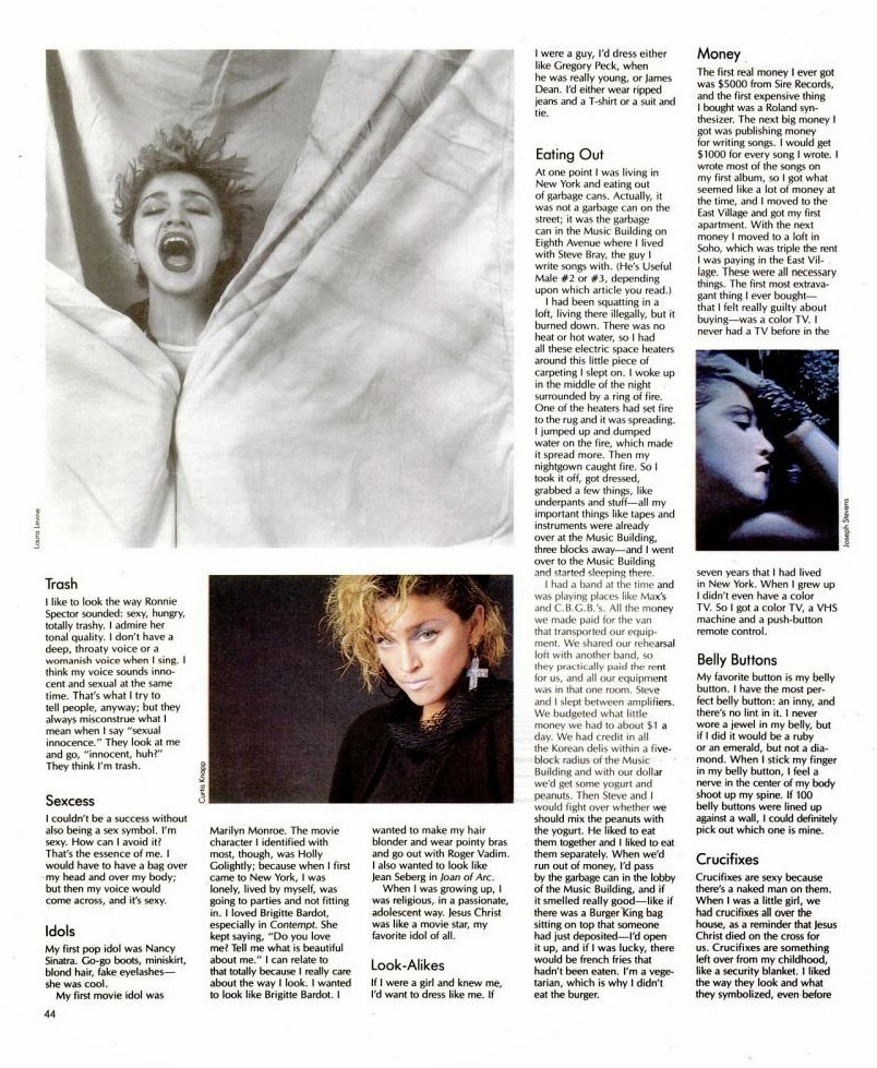 madonna spin magazine in terview 1985 4