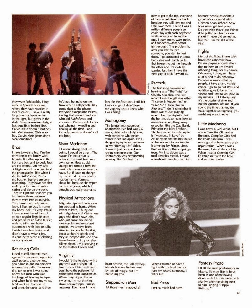madonna spin magazine in terview 1985 5
