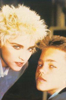 Felix Howard junto a Madonna