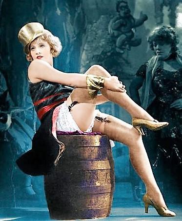 """Marlene Dietrich en """"El Angel Azul"""""""