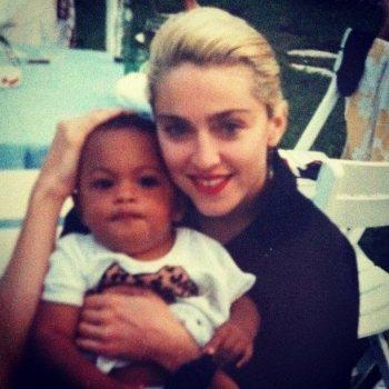 Madonna y Davida hija de David Williams