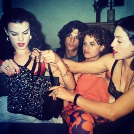 Con Sandra Bernhard 1991