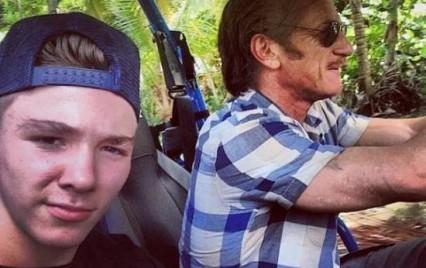 Rocco con Sean Penn